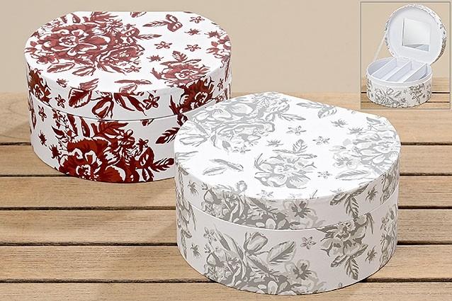 2er set schmuckbox mala k che und haushalt aufbewahren k rbe kisten boxen schmuckk stchen. Black Bedroom Furniture Sets. Home Design Ideas