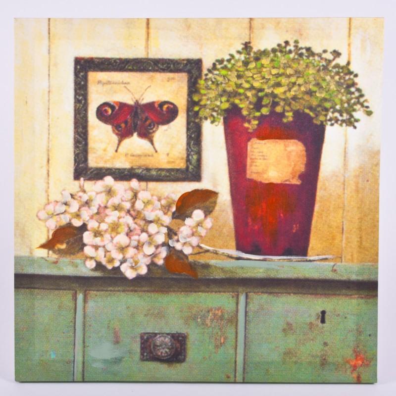 Wandbild pfauenauge und bl ten deko m bel wohnen for Dekoration und wohnaccessoires
