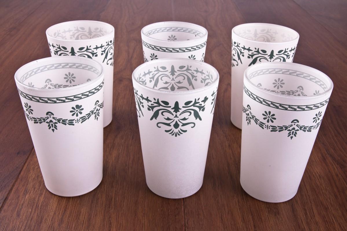 Teelichthalter vintage gr ne ornamentverziehrung 6er set for Vintage wohnaccessoires