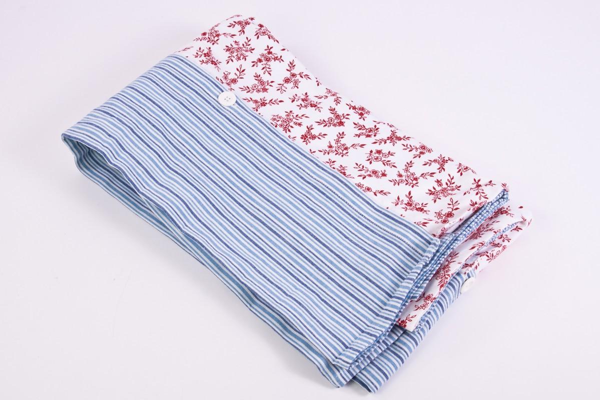 tischdecke marie claire 3 mit kn pfen verbundene l ufer rot wei blau 100 baumwolle m bel. Black Bedroom Furniture Sets. Home Design Ideas