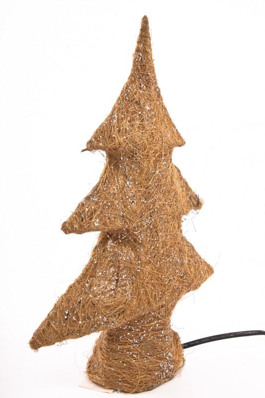 sisal tannenbaum christbaum mit 10tlg beleuchtung gold ca 30cm m bel wohnen dekoration. Black Bedroom Furniture Sets. Home Design Ideas