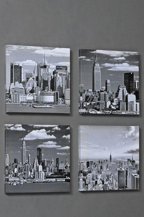 bildserie wandbilder city 4er set m bel wohnen dekoration wohnaccessoires wandbilder. Black Bedroom Furniture Sets. Home Design Ideas