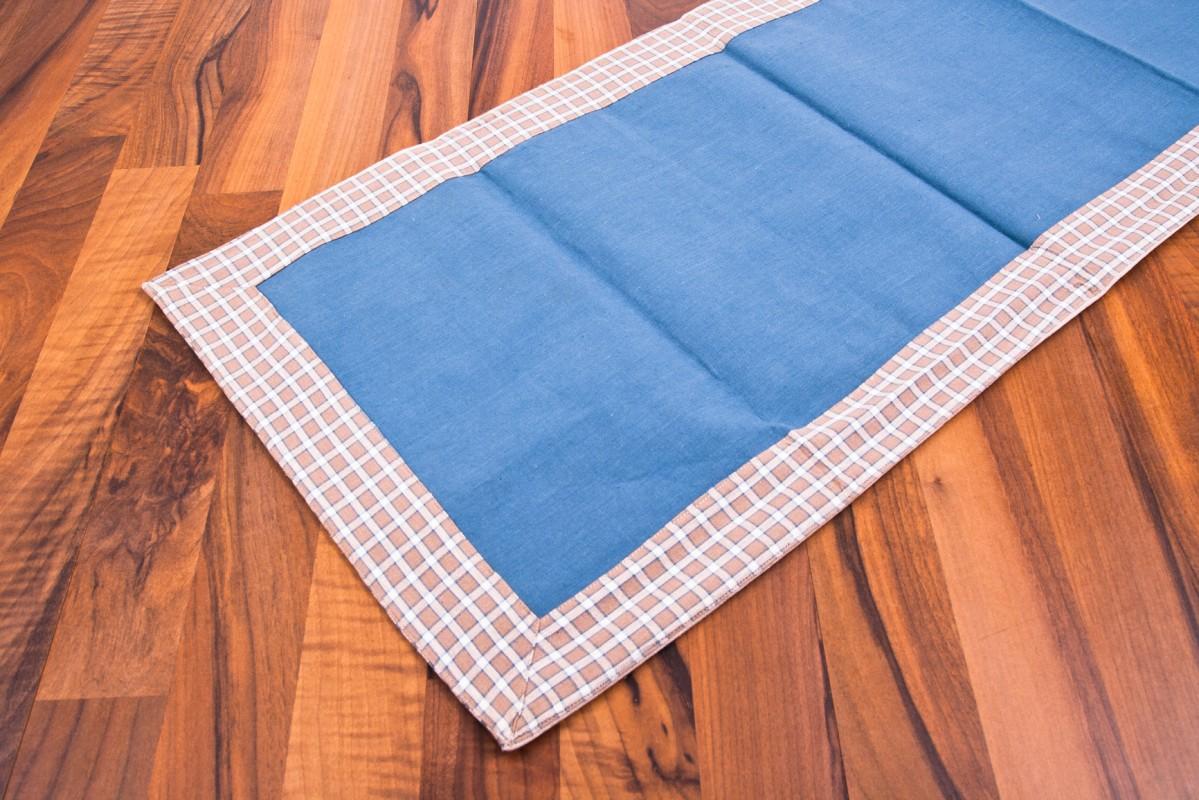 tischl ufer blau braun wei 140 x 40 cm 100 baumwolle tischdecke m bel wohnen gedeckter tisch. Black Bedroom Furniture Sets. Home Design Ideas
