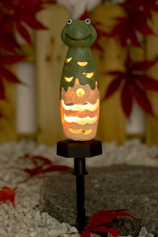 solar led garten deko frosch leuchtet bei dunkelheit f r au en und innen garten pflanzen. Black Bedroom Furniture Sets. Home Design Ideas